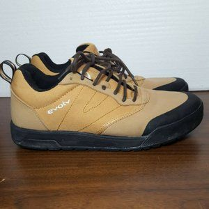 Evolv Trax Hiking Trail Shoes Size 8 Tan Canvas Unisex Womens 8 Mens 7 Lace Up